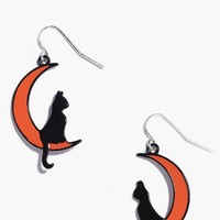 Connie Halloween Cat Moon Earrings | Boohoo