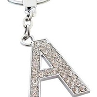 AM Landen®Rhinestone Bling Crystal Alphabet Letter(A-Z)and Lovers Key-chains Keychains Handbags Charms