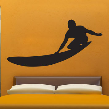 Vinyl Wall Decal Sticker Longboard Surfing #1544