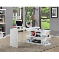 Chintaly Motion Home Office Desk In White