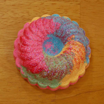 Rainbow Glitter Bath Bomb 6.5 oz