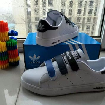 """""""Adidas STAN SMITH"""" Fashion Casual Unisex Plate Shoes Sneakers Couple Velcro Small Whi"""