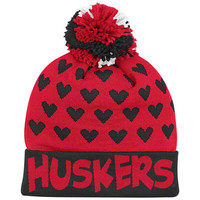 Nebraska Cornhuskers adidas Red Youth Girls Cuffed Knit Hat