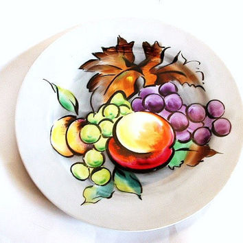 Vintage Fruit Plate Porcelain Ceramic China Hand Painted Japan Dinnerware Decorative Collectible