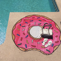 Donut Round Tapestry (Thin, See Through Fabric)