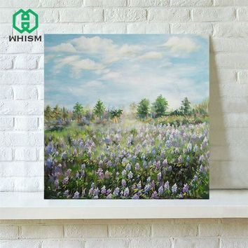 WHISM Frameless Rural Fields Canvas Painting Artwork Wall Art Canvas Printing Decorative Oil Painting Canvas Abstract Drawing