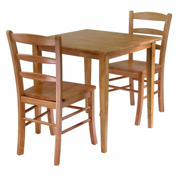 Groveland 3 Piece Dining Set, Square Table with 2 Chairs