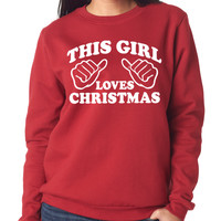 Red This Girl Loves Christmas Soft & Stretchy Sweater