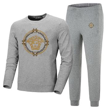 versace  men's and women's round neckwear trousers and trousers suit