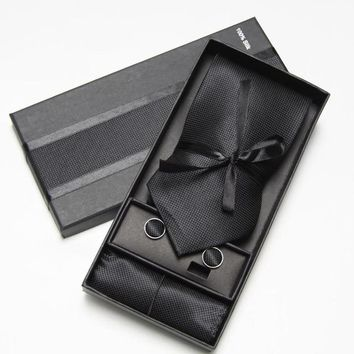 Mens' Fashion  Ties, Cuff links And Pocket Square Set