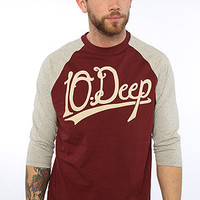 10 Deep The Infield Baseball in Burgundy