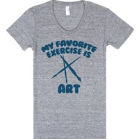 My Favorite Exercise is Art Funny Artists Creativity-T-Shirt