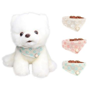 Cat Dog Collar Scarf Adjustable Lovely Printed Pet Neck Tie Collar Scarf Leash Dogs Cat Personality Bandana Pet Supplies