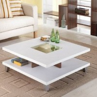 ioHOMES Lendon Square Coffee Table, White