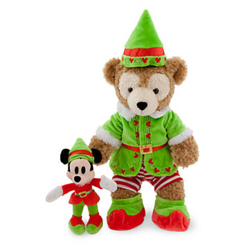 Duffy the Disney Bear Elf Costume with Mickey Elf Toy Plush