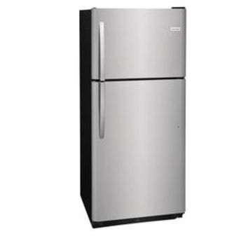 Shop Frigidaire 20.4-cu ft Top-Freezer Refrigerator (EasyCare Stainless Steel) at Lowes.com