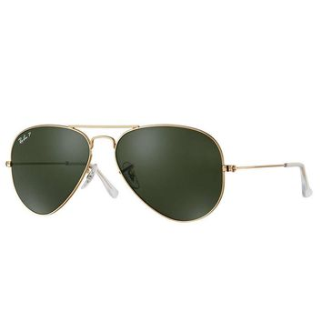 Cheap Ray Ban Aviator RB3025 001/58 Sunglasses Gold Green Classic G-15 Polarized 58mm outlet