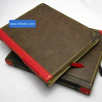 Book Style iPad Hardback Leather Case