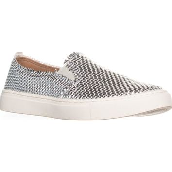 Indigo Rd. Kicky Woven Slip On Sneakers , Silver, 8 US