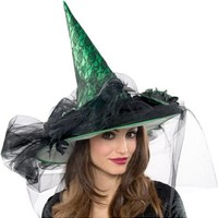 Deluxe Green Witch Hat- Party City