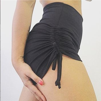 Hot Shorts Women Yuga  Sporting Clothes Workout High Waist  Women Beach Workout Short Pants Fitness Seamless Ribbons AT_43_3