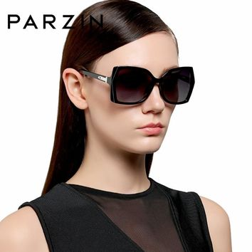 PARZIN Brand Polarized Sunglasses Women Big Special Frame Classic Retro Fashion Driving Glasses Shield Anti UV400 9508
