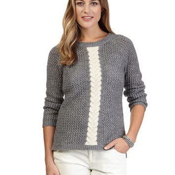 Nautica Contrast Cable Knit Sweater