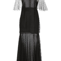 Polka Dot Tulle Midi Dress | Moda Operandi