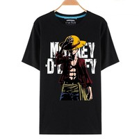 One Piece Luffy Monkey D Tipping Hat Anime T-Shirt