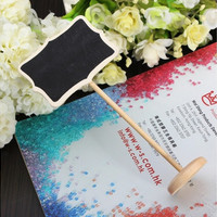 10Pcs Mini Blackboard Chalkboard Wordpad Message Note Memo Board Holder Clip Home House Party Wedding Decor Craft [7983379207]
