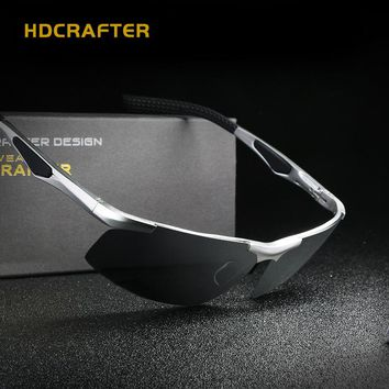 Men Futuristic Polarized Square Shades HDCRAFTER