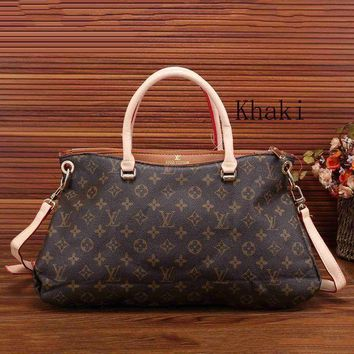 DCCKB62 Louis Vuitton Fashion Trending Leather Zipper Satchel Tote Travel Bag Handbag For Women G