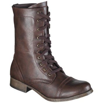 Women's Mossimo Supply Co. Khalea Combat Boots - Cognac