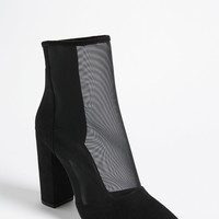Pointed Mesh Ankle Boots
