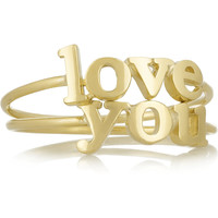 Jennifer Meyer - Love You set of two 18-karat gold rings