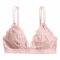 Padded triangle bra - Pink - Ladies | H&M GB