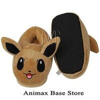 Children's Anime Pokemon Go Eevee Full Stuffed Plush Slippers Cotton Home Plush Slippe