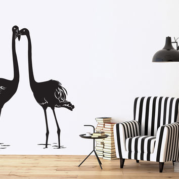 Wall Sticker Vinyl Decal Romantic Love Couple Flamingo Happiness Unique Gift (n539)