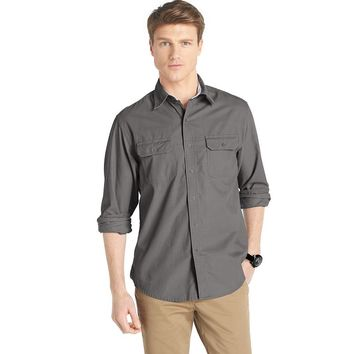 IZOD Solid Corduroy Casual Button-Down Shirt