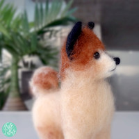 MADE TO ORDER - Needle Felted Sculptures - Lovely Dog - Miniature Wool Felt Puppy Dog