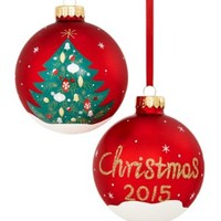 Holiday Lane 2015 Tree Dated Ball Ornament, Only at Macy's | macys.com
