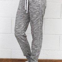 French Terry Drawstring Joggers {H. Grey}