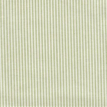 Thin Green and White Stripe Fabric by the Yard | 100% Cotton