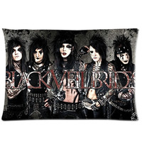 Black Veil Brides 20X30 Inch 2 Sides Zippered Soft Cotton Pillow Covers Decorative Cushion Covers