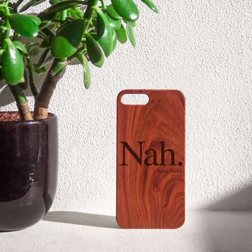 """Nah Rosa Parks 1955 """"Quote"""" Wood iPhone Case"""