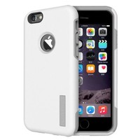 iVAPO iPhone 6 case, [Drop resistance Series Non-Slip] Smooth Back Cover, [Dual Layer Protection] Armor Case, Excellent Grip Matte Hard Shell - ECO-Friendly Packaging, Slim Hard Case For iPhone 6 (For 4.7inch Only) (2014) (MM553) (White-Grey)