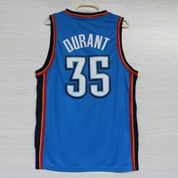 Thunder Youth Kevin Durant Basketball Jersey Shirts Blue Jerseys Uniform Tank Tops camisetas baloncesto basquete