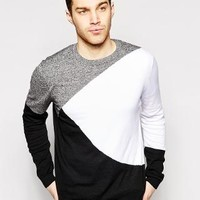ASOS | ASOS Sweater with Color Block Design at ASOS