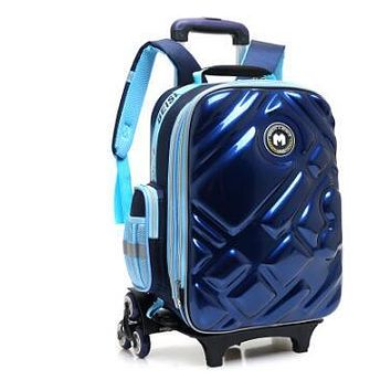 3D Boy's trolley Bag with wheels for school Kids Rolling Bag on wheels Children's Travel Bag 6 wheels School Trolley Backpack