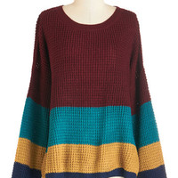ModCloth Mid-length Long Sleeve Unfettered Fun Sweater
